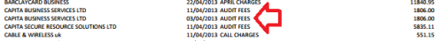 Transparency - Capita as audit fees