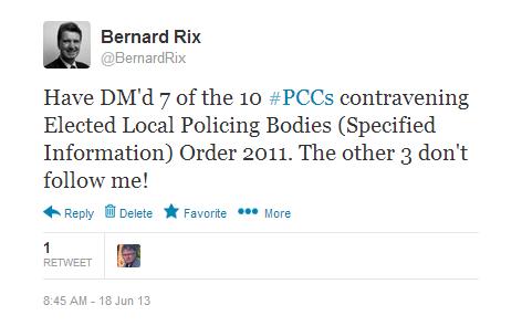 Transparency on £500 - BJR re DM