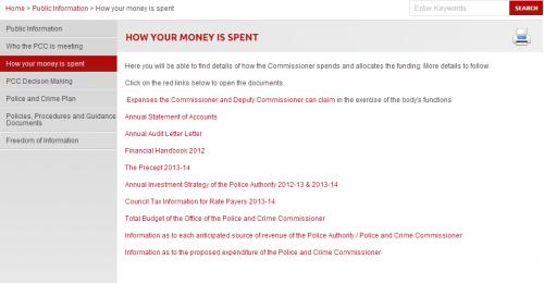 Transparency on £500 - Derbyshire