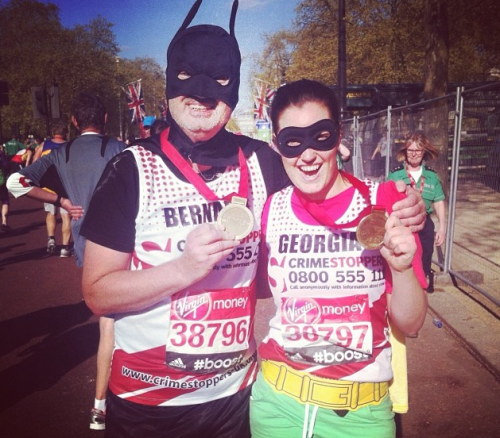 G and me London Marathon instagram 2