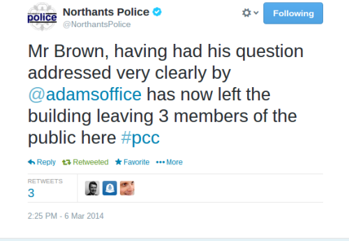 Northants Police tweet
