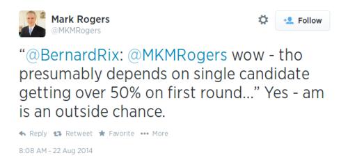 Tweet Mark Rogers 0808