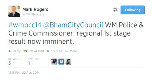 Tweet Mark Rogers 1214