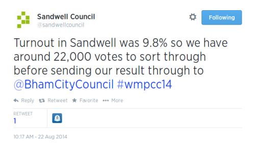 Tweet Sandwell 1019