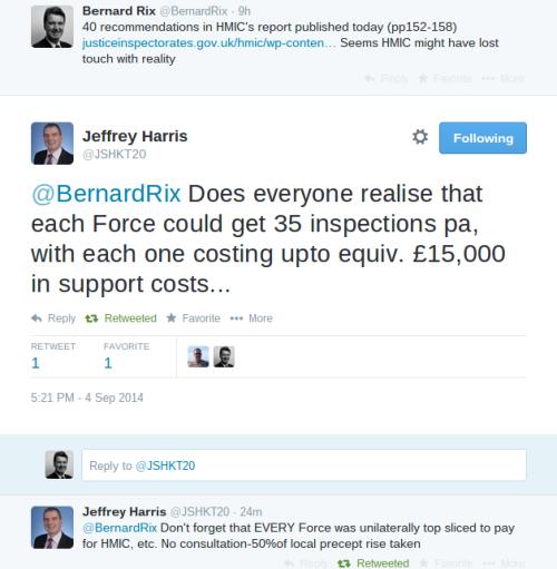 Cost of HMIC tweet from Jeff Harris