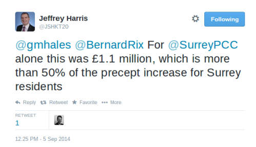 Jeff Harris re precept